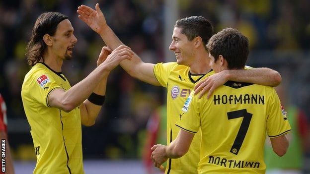 Borussia Dortmund celebrate a goal