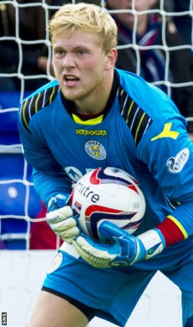 St Mirren goalkeeper David Cornell