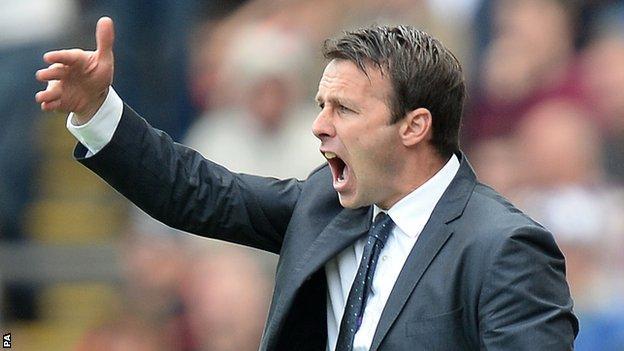 Bolton boss Dougie Freedman watches on