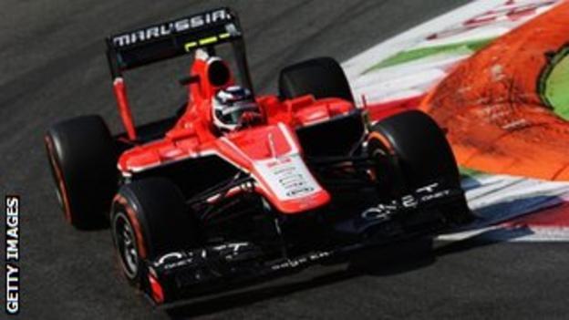 Max Chilton of Marussia at the Italian Grand Prix