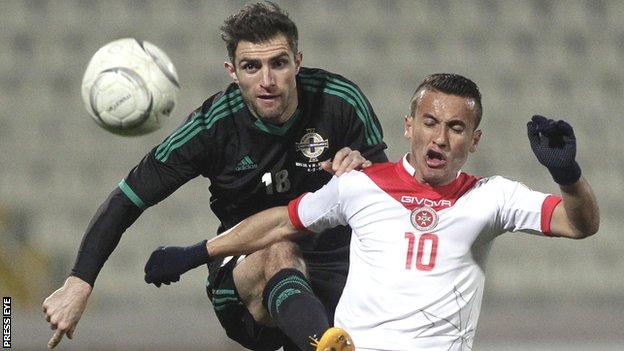 Northern Ireland defender Aaron Hughes