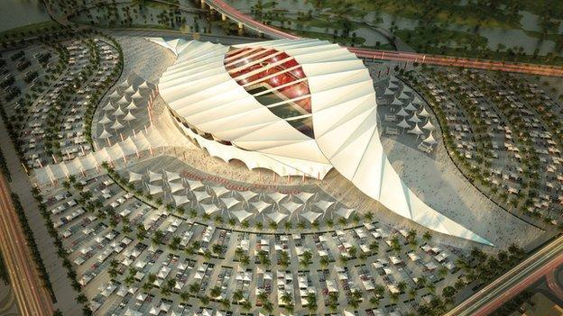 An artist's impression of a Qatar World Cup stadium