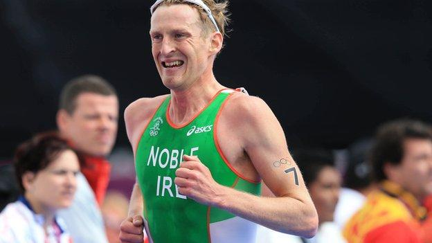 Gavin Noble finished 23rd in the men's triathlon at last year's Olympics