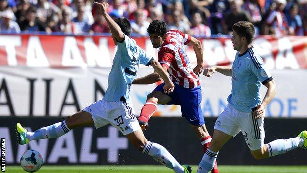 Atletico Madrid forward Diego Costa