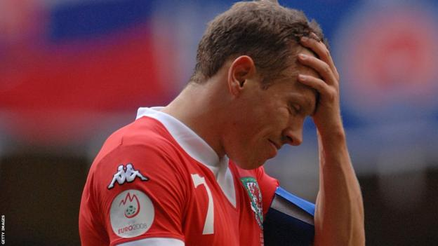 Wales, and Bellamy, can cannot quite believe it after suffering a shock 5-1 home defeat against Slovakia at the Millennium Stadium in a Euro 2008 qualifier