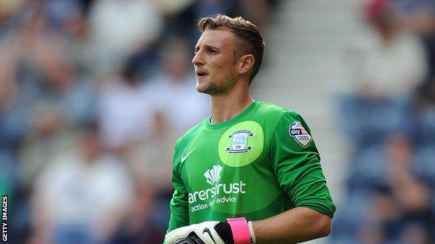 Preston North End goalkeeper Declan Rudd