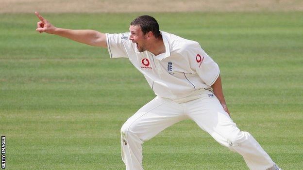 Steve Harmison appeals for a wicket