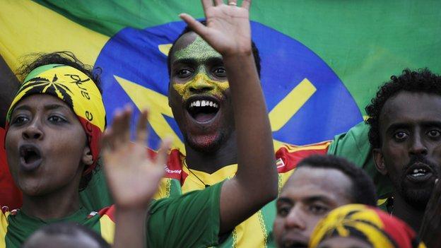 Ethiopian football fans