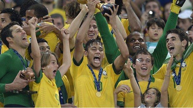Brazil lift the Confederations Cup