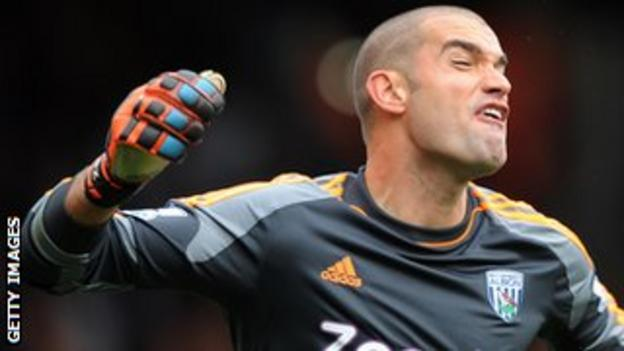 West Brom stand-in keeper Boaz Myhill