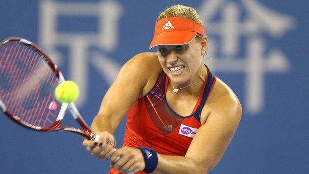 Angelique Kerber has claimed the final WTA Championship place