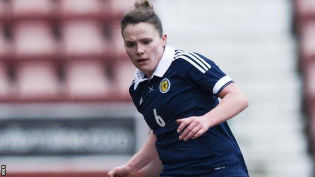 Scotland midfielder Jo Love