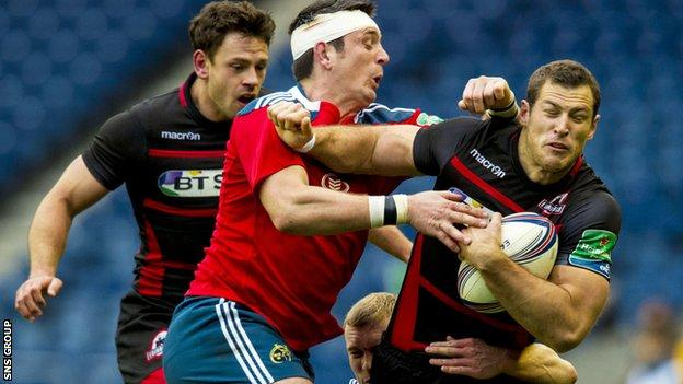 Munster had to contend with some spirited play from Edinburgh