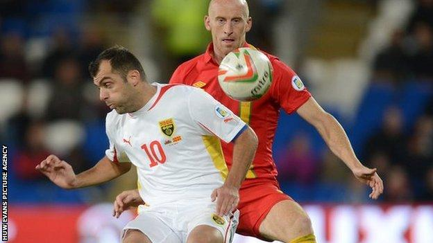 James Collins in action against Macedonia