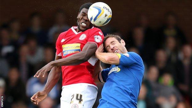 Goalscorers Kayode Odejayi and Alan Bennett