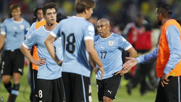 Uruguay players