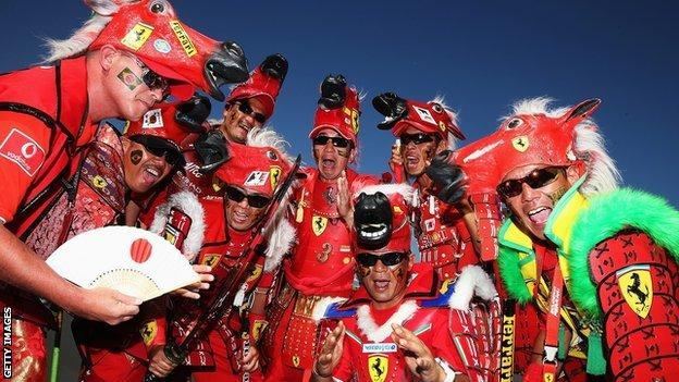 Japanese GP fans