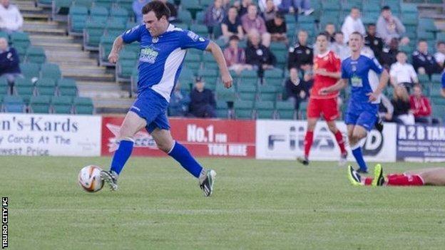 Truro City striker Liam Eddy