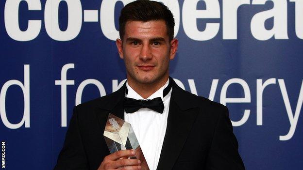 Ian Mort with 2011 Championship One player of the season award