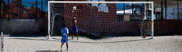 Football in a Rio favela