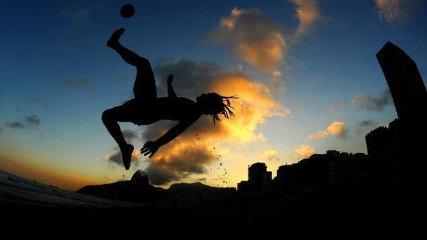 Beach football in Brazil