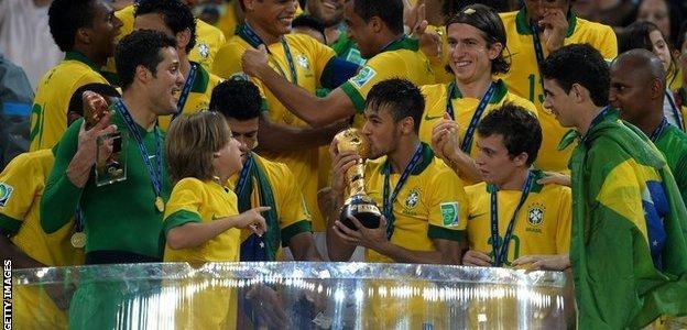 Neymar lifts Confederations Cup