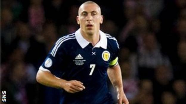 Scott Brown playing for Scotland
