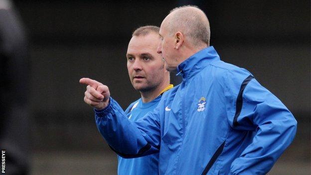 Bangor manager Garth Scates