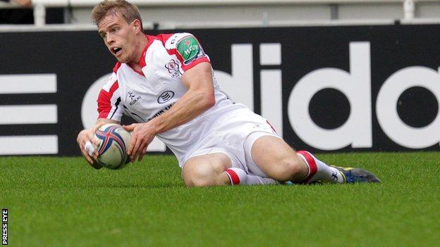 Ruan Pienaar scores Ulster's first-half try