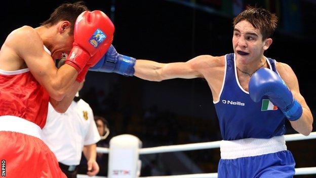 Michael Conlan lands a right hand on Mexico's Brian Gonzalez