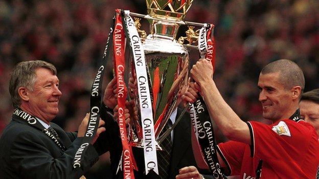 Sir Alex Ferguson and Roy Keane