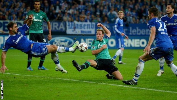 Schalke v Chelsea in the Champions League