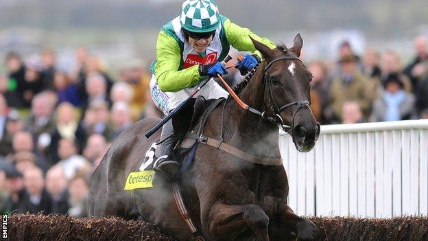 Denman riding in the Cheltenham Gold Cup