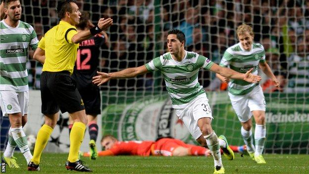 Beram Kayal celebrates scoring against Ajax