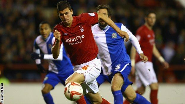 Daniel Ayala in action for Nottingham Forest