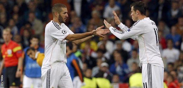 Karim Benzema and Gareth Bale