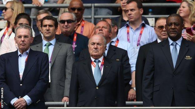 Sepp Blatter and Jeffrey Webb