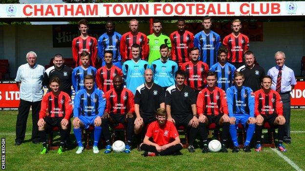 Chatham Town team line-up