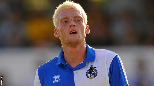 Cian Bolger in action for Bristol Rovers