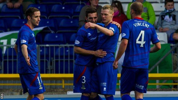 Inverness CT are currently second in the Scottish Premiership