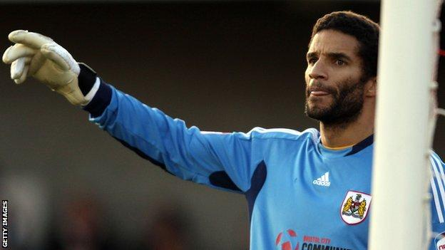David James in action for Bristol City