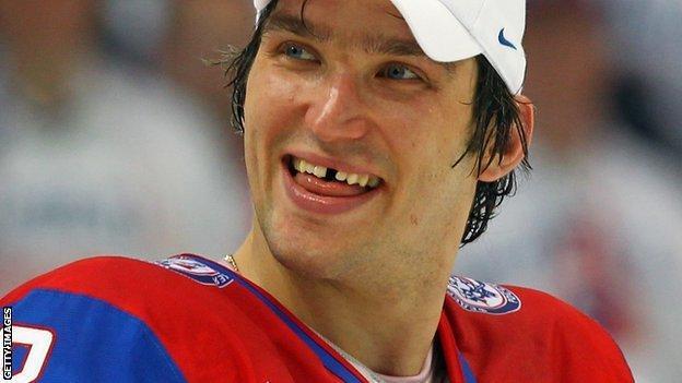 Russian ice hockey star Alex Ovechkin