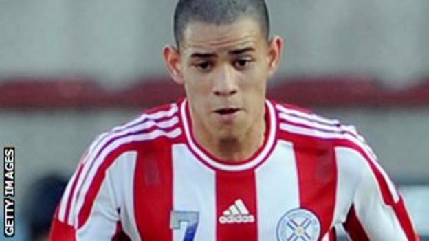 Barcelona forward Antonio Sanabria
