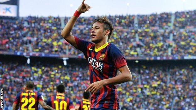 Barcelona forward Neymar