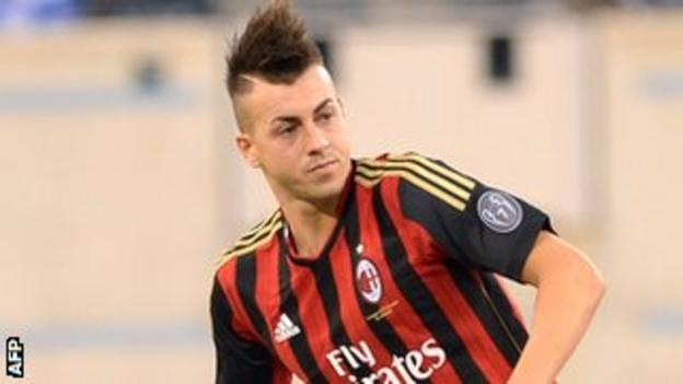 Several English clubs are thought to be interested in mohicaned striker El Shaarawy
