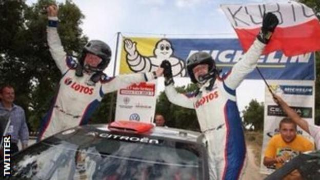 Robert Kubica wins the World Rally Championship's second division title