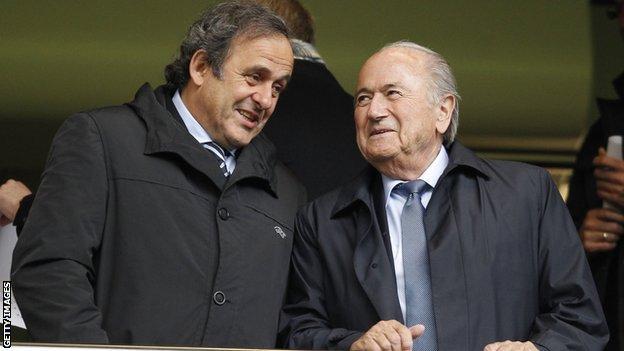 Uefa president Michel Platini (left) and Fifa president Sepp Blatter