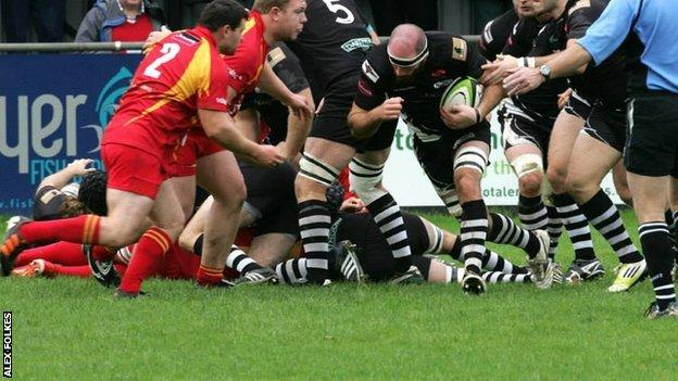 Launceston in action against Cambridge