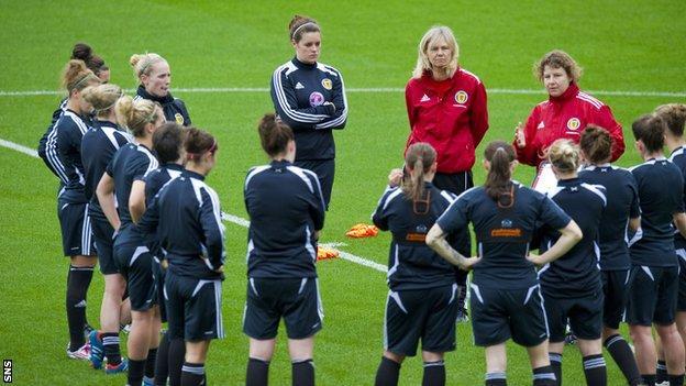 Scotland's women training