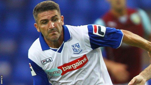 Tranmere Rovers striker Ryan Lowe